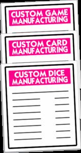 Custom Dice — Custom Game Cards — Custom Games Manufacturing