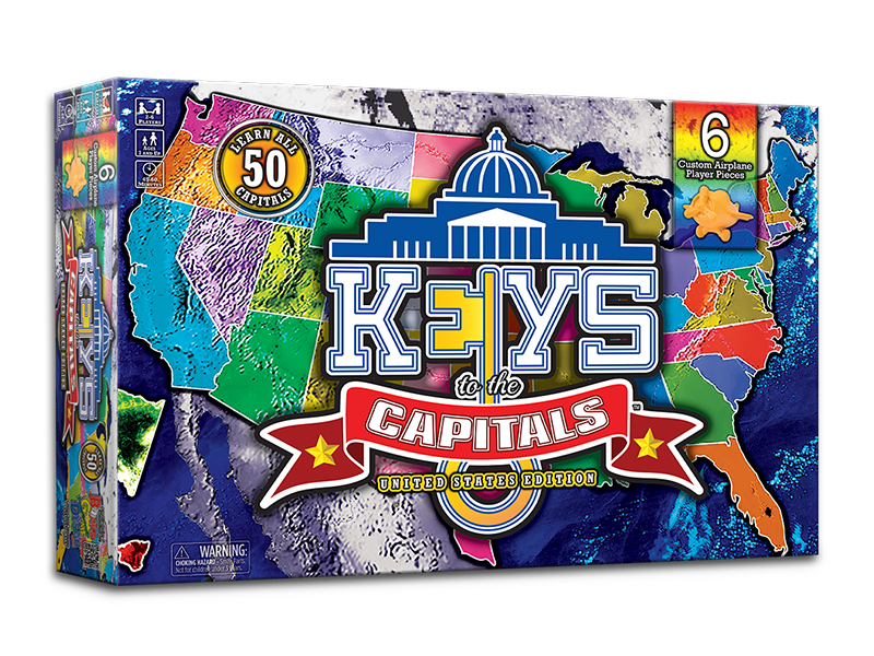 Keys to the Capitals Educational Board Game