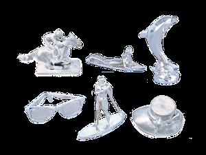 Custom Metal Pewter Pieces with Nickel Plating